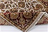 Kashan Beige Hand Knotted 54 X 82  Area Rug 250-26853 Thumb 3