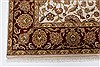 Kashan Beige Hand Knotted 54 X 82  Area Rug 250-26853 Thumb 8