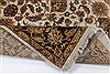 Kashan Beige Hand Knotted 57 X 81  Area Rug 250-26855 Thumb 1
