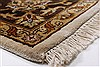 Kashan Beige Hand Knotted 57 X 81  Area Rug 250-26855 Thumb 7