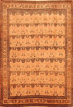 "Qum Beige Hand Knotted 4'8"" X 6'9""  Area Rug 100-26857"