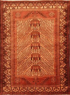 "Shahsavan Brown Hand Knotted 4'4"" X 6'1""  Area Rug 100-26862"