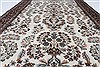 Isfahan White Hand Knotted 50 X 81  Area Rug 250-26864 Thumb 3