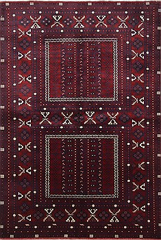 "Turkman Blue Hand Knotted 5'1"" X 7'9""  Area Rug 250-26873"