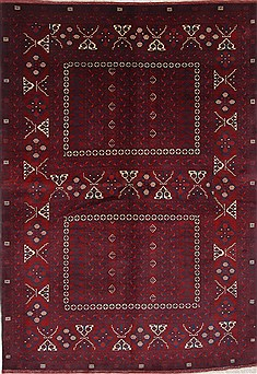 "Turkman Blue Hand Knotted 5'9"" X 8'2""  Area Rug 250-26914"