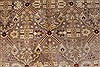 Isfahan Beige Hand Knotted 80 X 101  Area Rug 250-26935 Thumb 7