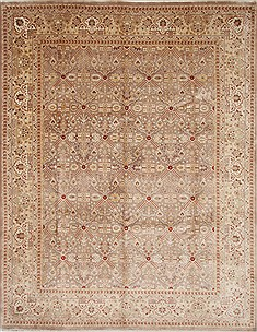 Indian Isfahan Beige Rectangle 8x10 ft Wool Carpet 26935