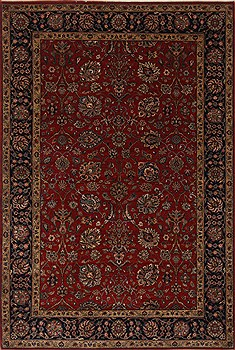 Indian Isfahan Red Rectangle 6x9 ft Wool Carpet 26953