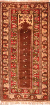 "Kazak Brown Hand Knotted 3'9"" X 5'10""  Area Rug 100-26972"