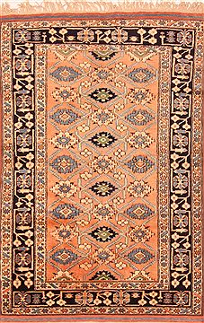 "Kazak Orange Hand Knotted 3'7"" X 5'3""  Area Rug 100-26978"