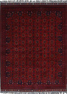 Indian Shahre babak Blue Rectangle 5x7 ft Wool Carpet 26995