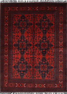 Indian Shahre babak Blue Rectangle 5x7 ft Wool Carpet 27000