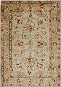 Egyptian Chobi Beige Rectangle 5x7 ft Wool Carpet 27041