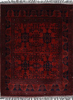Indian Shahre babak Blue Rectangle 5x7 ft Wool Carpet 27047