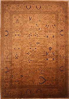 "Mahal Brown Hand Knotted 13'7"" X 19'6""  Area Rug 100-27053"