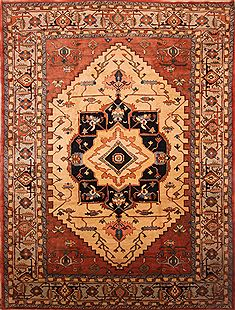 "Karajeh Red Hand Knotted 14'2"" X 18'7""  Area Rug 100-27056"