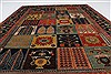 Gabbeh Multicolor Hand Knotted 51 X 71  Area Rug 250-27080 Thumb 3