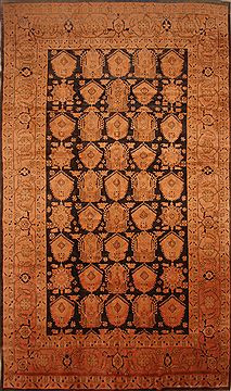 Persian Mahal Beige Rectangle 11x16 ft Wool Carpet 27083