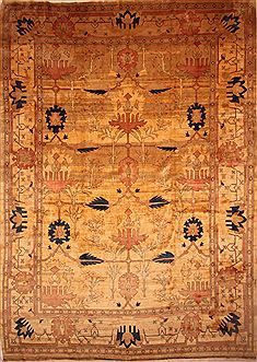 "Serapi Yellow Hand Knotted 13'7"" X 19'3""  Area Rug 100-27087"
