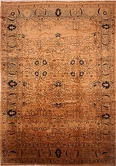 Persian Mahal Beige Rectangle 12x18 ft Wool Carpet 27090