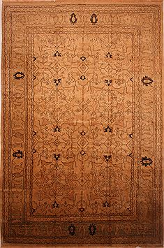 Persian Mahal Beige Rectangle 13x20 ft and Larger Wool Carpet 27102