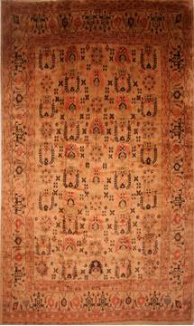 Persian Mahal Beige Rectangle 13x20 ft and Larger Wool Carpet 27104