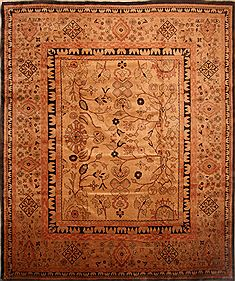 "Mahal Beige Hand Knotted 13'4"" X 16'2""  Area Rug 100-27112"
