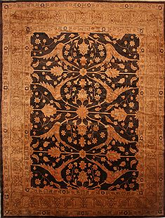 "Mahal Yellow Hand Knotted 13'5"" X 17'8""  Area Rug 100-27120"