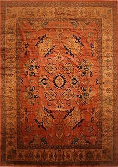 Persian Mahal Beige Rectangle 13x20 ft and Larger Wool Carpet 27124