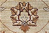 Pishavar Beige Hand Knotted 51 X 511  Area Rug 250-27208 Thumb 9