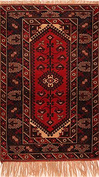 "Kazak Red Hand Knotted 3'9"" X 5'10""  Area Rug 100-27230"