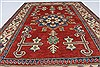 Kazak Red Hand Knotted 39 X 55  Area Rug 250-27280 Thumb 4