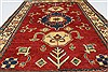 Kazak Red Hand Knotted 37 X 54  Area Rug 250-27286 Thumb 4