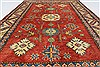 Kazak Red Hand Knotted 39 X 55  Area Rug 250-27292 Thumb 4