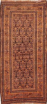 Persian Kurdi Yellow Runner 6 ft and Smaller Wool Carpet 27296