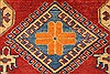 Kazak Red Hand Knotted 44 X 58  Area Rug 250-27302 Thumb 4