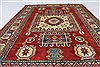 Kazak Red Hand Knotted 38 X 53  Area Rug 250-27304 Thumb 3
