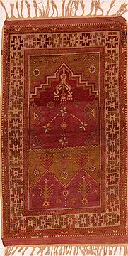 "Kazak Red Hand Knotted 2'10"" X 4'8""  Area Rug 100-27305"
