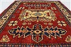 Kazak Red Hand Knotted 39 X 49  Area Rug 250-27308 Thumb 4