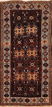 "Shirvan Brown Hand Knotted 3'7"" X 7'5""  Area Rug 100-27320"