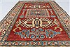 Kazak Red Hand Knotted 36 X 55  Area Rug 250-27339 Thumb 4