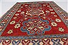 Kazak Red Hand Knotted 45 X 62  Area Rug 250-27356 Thumb 2