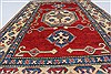 Kazak Red Hand Knotted 37 X 510  Area Rug 250-27360 Thumb 4