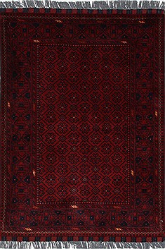 Indian Kunduz Blue Rectangle 3x4 ft Wool Carpet 27431