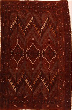 Kunduz Red Hand Knotted 3 5 X 2 Area Rug 253