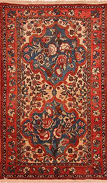 "Bakhtiar Red Hand Knotted 4'10"" X 8'1""  Area Rug 100-27456"