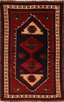 "Kazak Red Hand Knotted 4'5"" X 7'1""  Area Rug 100-27463"