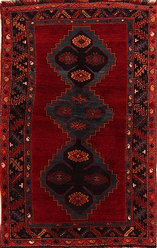 "Kazak Red Hand Knotted 5'7"" X 8'9""  Area Rug 100-27470"