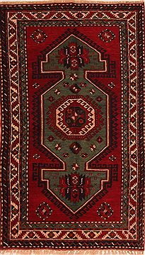 "Kazak Red Hand Knotted 4'6"" X 7'7""  Area Rug 100-27472"
