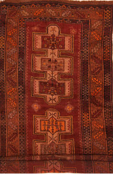 "Kazak Brown Runner Hand Knotted 3'11"" X 11'3""  Area Rug 100-27521"